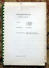 "1969 SCRIPT RUSSIAN-SWEDISH FILM ""MAN FROM THE OTHER SIDE"" Emil BRAGINSKY Rare"