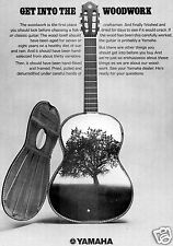 1972 Yamaha Acoustic Guitar Print Ad Get Into The Woodwork