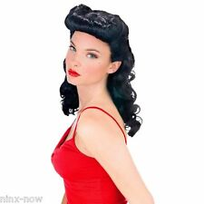 Burlesque Beauty Women's Dark Hair Bettie Page Fancy Dress Costume Wig