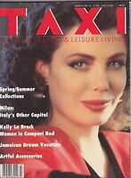 MARCH 1987 TAXI vintage fashion magazine