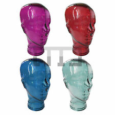 UNISEX GLASS MANNEQUIN DISPLAY HEAD FOR HATS, 3D GLASSES, WIGS, HEADPHONES STAND