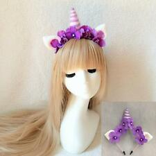 Fairy Flower Pixie Unicorn Horn Crown HeadBand Piece Festival Fae Magic Hairband