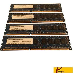 24GB (6 x4GB) Memory DDR3 1333 PC3 10600 ECC for HP Workstation Z400 w 6 sockets
