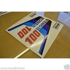 Honda 100 Outboard Engine Sticker Decal Graphic SET