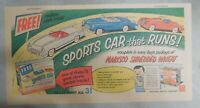 """Nabisco Cereal Ad: """"Sports Car"""" Premium Shredded Wheat 1940's Size: 7.5 x 15"""
