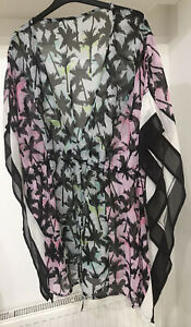 River Island - Ladies Size Large (14-16) - Tropical Beach Cover Up