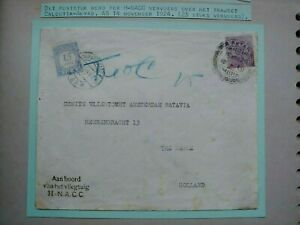 1924 AIRMAIL COVER INDIA WITH H-NACC CALCUTTA AKYAB TO NEDERLAND  B132.6 $0.99