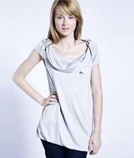 Evisu Japan Lovely Grey Top Tunic T-shirt Maglietta Tunica Donna Grigio S