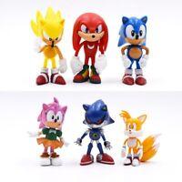 6pcs/set 7cm Sonic The Hedgehog Figures Toy pvc Characters figure toy Kids Gift