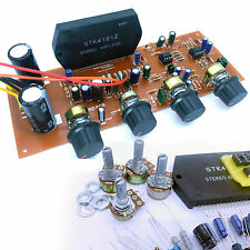 STK 4191 100W Stereo Power Amplifier DIY kit with NE5532 Pre Amp Tone Ctrl PCB