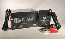 Mighty Max 12V 12AH Battery for Kid Trax Cat Bulldozer 12V + 12V 1Amp Charger