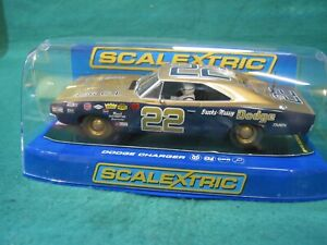 SCALEXTRIC C3323 1969 DODGE CHARGER GOLD #22 USED IN  EXCELLENT  COND BOXED