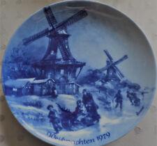 """Berlin Design Weihnachtsteller 1979 """"Weihnachtsabend in Greetsiel"""""""