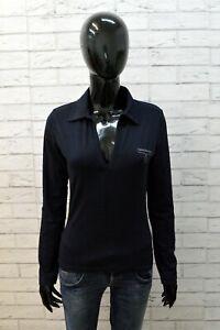 Maglia Blu Donna Calvin Klein Taglia M Polo Manica Lunga Camicia Shirt Woman Top