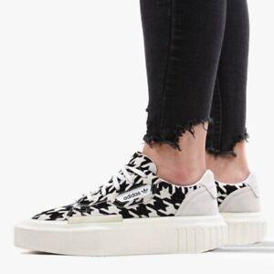 Adidas Originals Women's 5.5 Black White Hypersleek Houndstooth Sneakers G54058