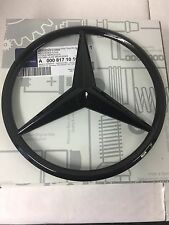 Genuine Mercedes-Benz GLOSS BLACK Radiator Grille Star Badge Emblem A0008171016