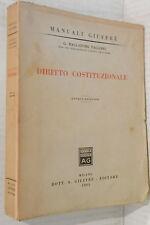 DIRITTO COSTITUZIONALE G Balladore Pallieri Giuffre Editore Manuali 1965 di e