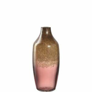 Leonardo Burgundy/Gold Poesia Vase 30cm