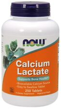 NOW Foods  Calcium Lactate - 250 tablets     FREE P&P