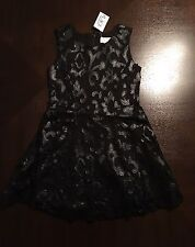 Cute Little Girls Embroidered Dress. The Children's Place, Size 4. Blk NWT $35
