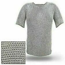 Cotta di Maglia Camicia Alluminio Costume Butted 10 MM Medievale Armatura
