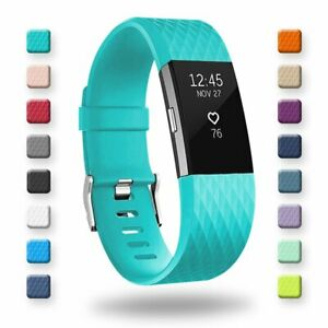 FITBIT CHARGE 2 BAND SMALL LARGE STRAP CLASP REPLACEMENT ADJUSTABLE BREATHABLE