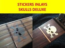STICKERS INLAY GUITAR SKULLS DELUXE BLACK VISIT OUR STORE WITH MORE MODELS