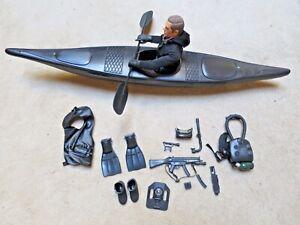 GI Joe g.i Stalker v2 KAYAK boat canoe Vtg weapon 1989 accessory