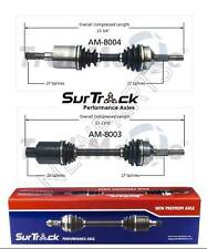 NEW Pair Front CV Axle Shafts SurTrack Set For Jeep Liberty 4WD 2.8L 2.4L