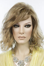 Light Butterscotch Light Ash Brown Tipped Brunette Medium Lace Front Wavy Wigs