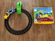 Playmobil Geobra Train set with tunnel 6912 in original box track people vintage
