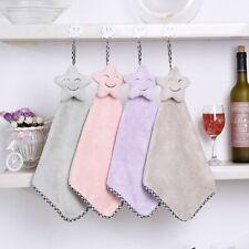 Super Soft Absorbent Microfiber Hand Towels Hanging Bathroom Towel Home Textiles