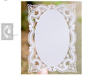 Rectangular Lace Frame Metal Cutting Die Stencil Scrapbook Embossing Paper Craft