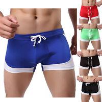 Sexy Men's Swimming Boxer Briefs Spandex Swim Shorts Trunks Swimwear Underwear