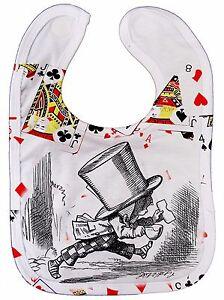 "Alice Wonderland Bib ""Mad Hatter"" Adventures Tea Party Boy Girl Gift"