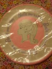 "Barbie VINTAGE 1964 NEW Sealed Mattel  Ponytail 9"" Paper Plates (6) RARE"