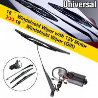 "16"" 18"" UTV Electric Windshield Wiper 12V Motor Kit for Honda Polaris Ranger RZR"