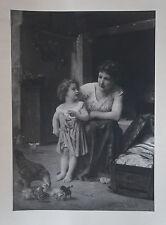 """ELIZABETH BOUGUEREAU  - Photogravure    """" MERE ET ENFANT  """""""