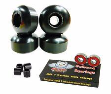 Blank Pro 52mm 99a Black Skateboard Wheels + Owlsome ABEC 7 Bearings