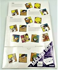 Kittrich Mailing Boxes Looney Tunes Warner Bros 1997 Large 14x10 Lot Of 2