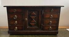 More details for antique 19th century miniature apprentice carved oak dresser base or sideboard