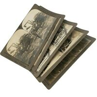 Lot 5 Great War WWI Stereoview - Soldiers Navy Submarines Training Station Lot27