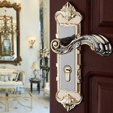 Continental Antique Gold Entry Lever Door Lock Set Handle Home Entrance Passage