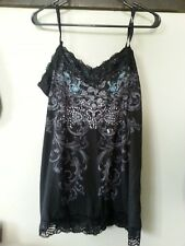Maurices womens ladies Xlarge tank w/lace cami, black w/sequins NEW TAG