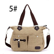 Women/Ladies Shoulder Bag Satchel Crossbody Tote Handbag Purse Messenger Canvas