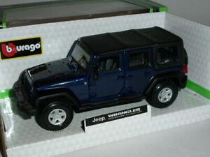 Jeep Wrangler Unlimited Rubicon 1:32 Blue by Burago