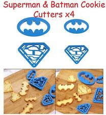 Batman Superman Superhero inspired cookie cutters (4 pieces) Cupcake Topper