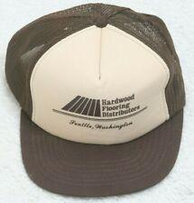 Hardwood Flooring Brown Vintage Baseball Hat Snapback One Size Fits All Adult