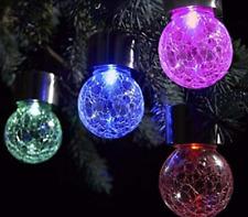 5X Bunt Neu LED Solarkugel Gartenlampe Kugelleuchte Leuchtkugel für Garten Hänge
