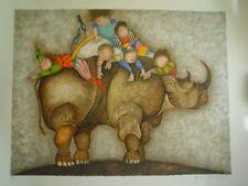 "GRACIELA RODO BOULANGER - Large Original Lithograph ""Cher Rhinoceros"" - S&N"